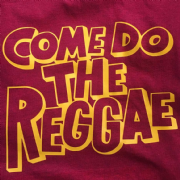 COME DO THE REGGAE T-SHIRT RED & YELLOW